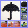 Black SBR Rubber Crumb, Recycled SBR Rubber Granule, Price Of Crumb Rubber-FN-A-16050402