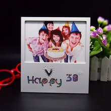 Happy 30th birthday promotional gift 4r metal picture frame photo frame