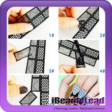 New coming hollow out nail sticker 3d nail art decoration nail decals
