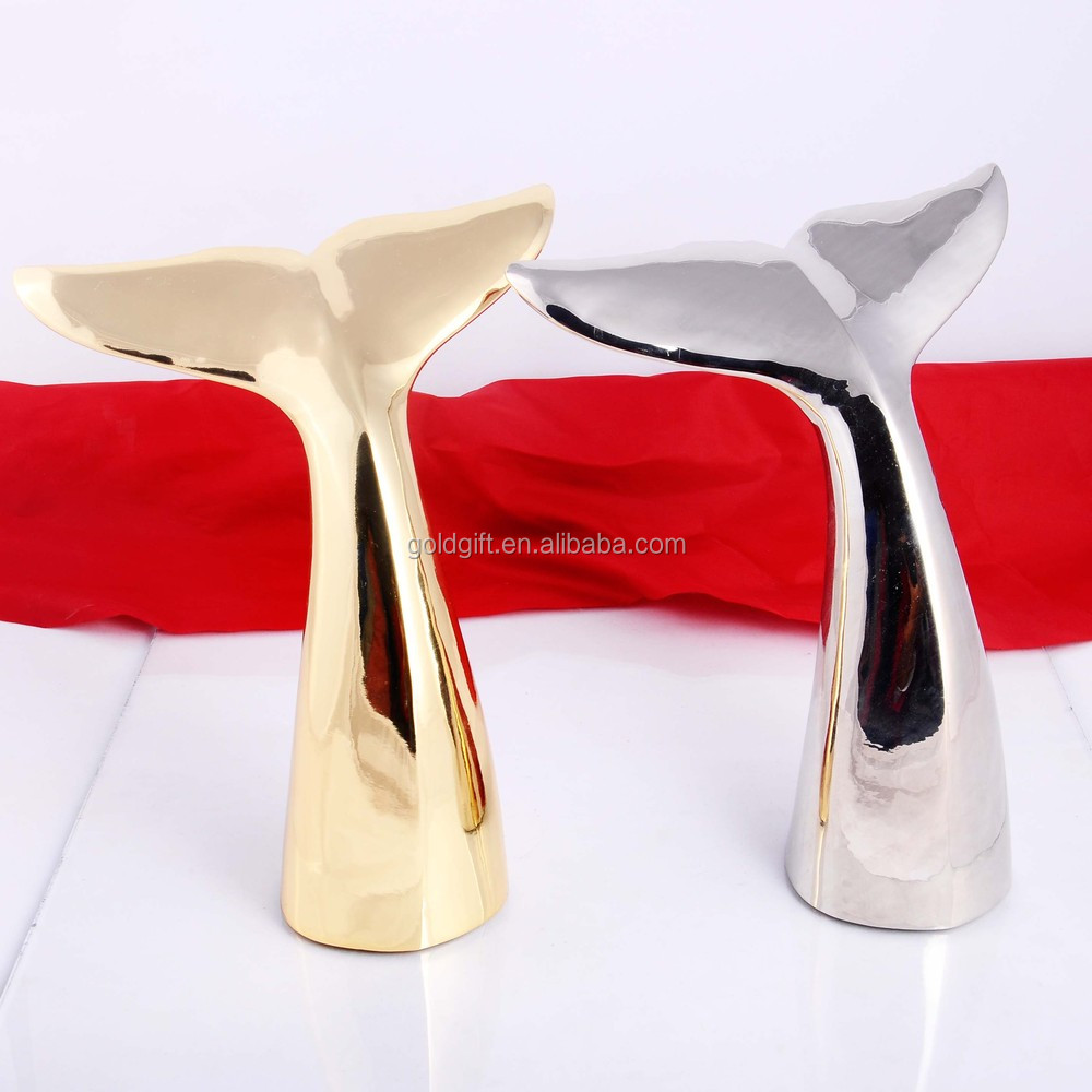 special china Whale tail shape metal trophy made in china