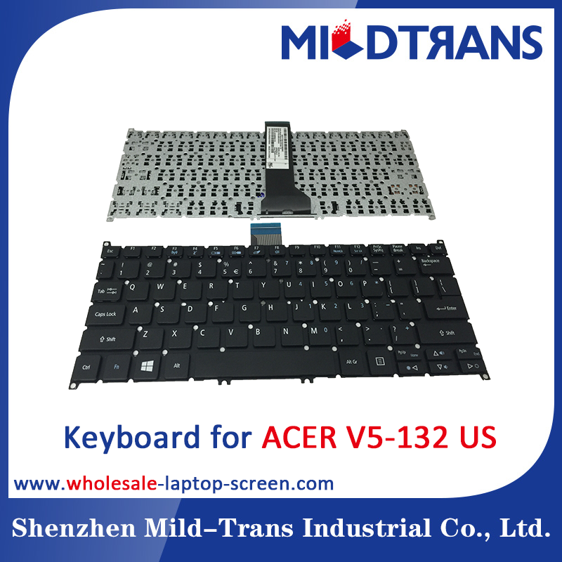 Laptop Keyboard replacement for ACER V5-132 with all layout Black