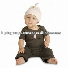 ORGANIC COTTON SHORT SLEEVES BABY CLOTHES ROMPERS