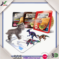 Customized animal 3D PP Puzzle /tazo card for promotion and children game, puzzle for children
