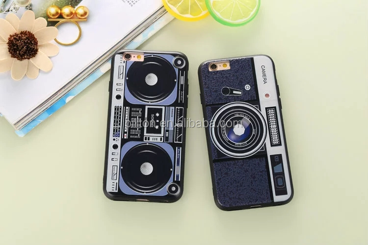 hot selling camera guitar pattern embossment mobile phone case for phone iphone 6 6s 6 plus cell