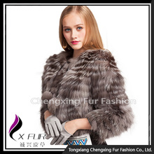 CX-G-A-94 Women Plush Real Raccoon Fur Coat
