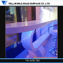 2014 Hot sale high gloss bar counter with lights small bar counter designs