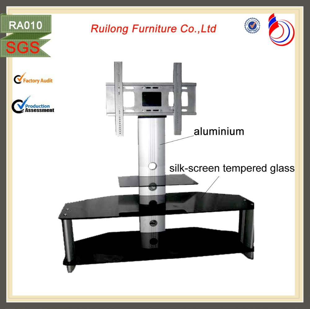 Design Moderne Cristal Verre Table Tv Plasma Lcd Tv Stand Ra010  # Table Tv Plasma Moderne En Verre