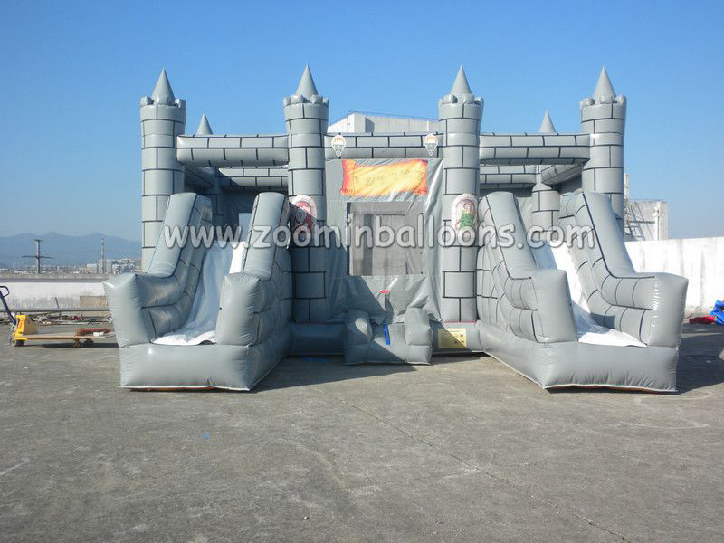 Factory directly sell <strong>inflatable</strong> jumping house with water slide Z2017