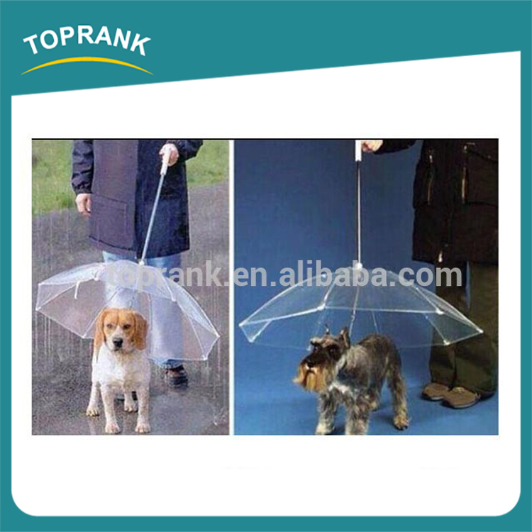 New Foldable Waterproof White transparent Pet Plastic Umbrella For Dog,High Quality Pet Dog Umbrella,Outdoor Umbrella Rain
