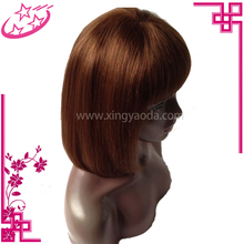 Cheap Price #33 Color Short Straight European Virgin Human Hair Lace Frontal Wigs 10 Inch