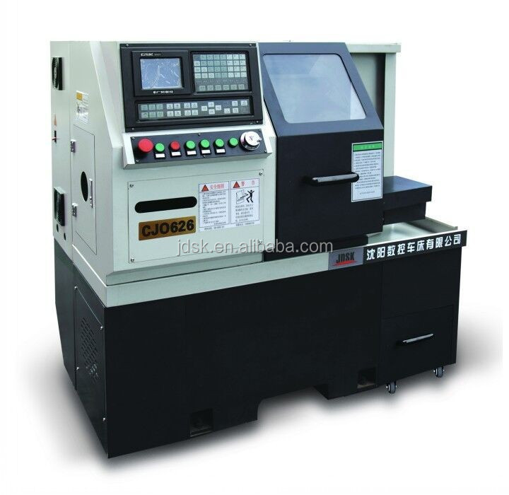 metal cutting CNC lathe/CNC turning center/small CNC machiinery with numerals controller and gang type tool post CJ0626