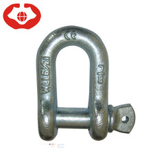 High polished jis type dee shackle galvanized g210 screw pin d shackle joining adjustable paracord straight shackle