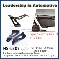 Upper Windshield Mounting Brackets Fit Straight/Curved LED Light Bar with Screw Nuts and Bolts Made in China