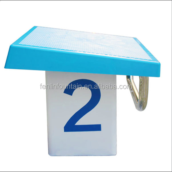Outdoor and indoor swimming pool competition equipment starting block used