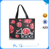 handle carry christmas recycled bag laminated tote bag pictures printing eco pp non woven shopping bag
