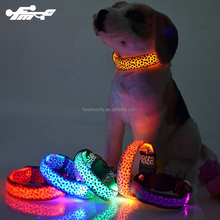 Factory Price LED flash rechargeable dog collar