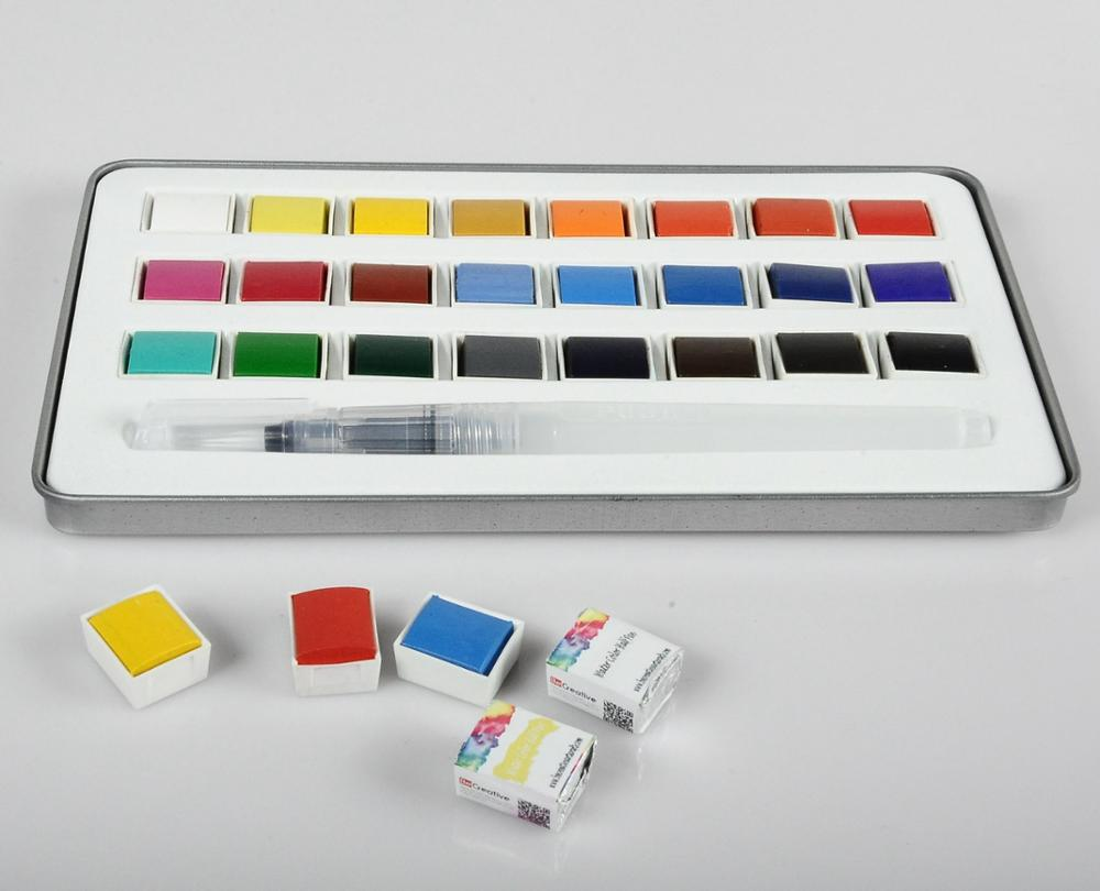 TARGET audited supplier,damp-dry metallic watercolor set ,rectangle watercolor box