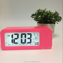 Funny digital talking alarm clock with calendar and temperature display for blind