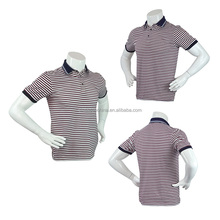 Casual Striped Short Sleeve Quick Dry Men'S Cotton Polo Shirts
