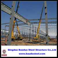 Faster construction cycle light steel frame structure workshop
