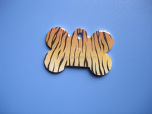 Cute Tiger Personalized Animal Print Pet Dog Name ID Tag Pet Tags