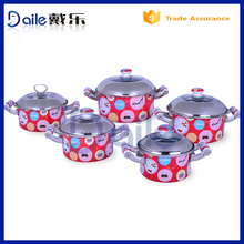 Professional enamel mugs wholesale set of stainless cookware