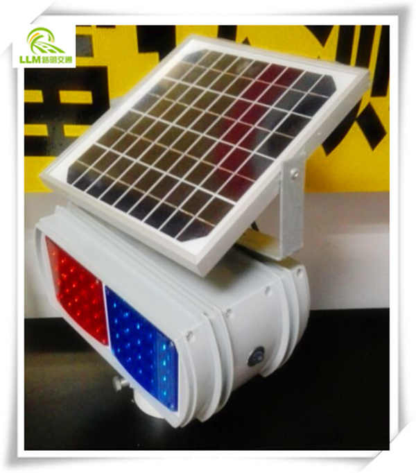 Most popular traffic safety double-sided solar powered LED flashing warning light
