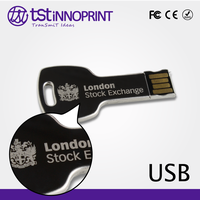 Lock Your Data Custom Print High Quality Metal Key USB Flash Drive