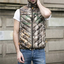 2017 Custom CAMO Foldable Ultra Thin Lightweight Mens White Duck DOWN Vest
