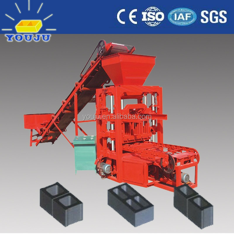 QTJ4-26 hollow block manufacturing method/adobe brick making machinery