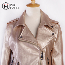 OEM PU Leather Coats Women Racing Clothing Motorcycle Jacket