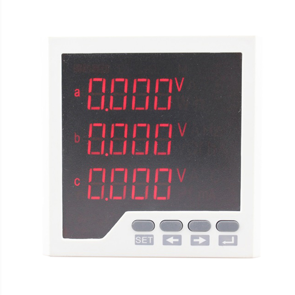 3D3 low price panel size 96 *96 industrial usage led display 3 phase digital energy <strong>meter</strong>, can add switch input and rs485 modbus