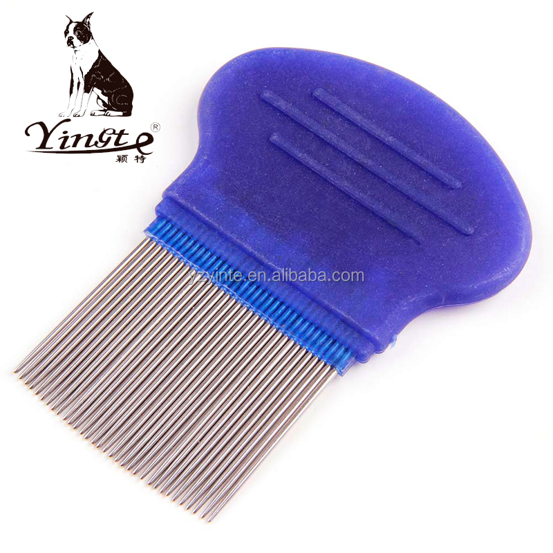 Wholesale pet supplies stainless steel pin lice comb