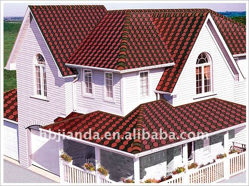 construction and waterproof material Hexagon Colored asphalt roof shingles