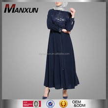 New Designs Muslim Casual Abaya In Dubai Slim Moroccan Abaya Hot sell Turkey Dress Front Zip Islamic Clothes
