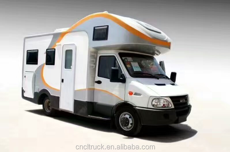 China manufacture 4x2 iveco motor home auto mobile travel caravan