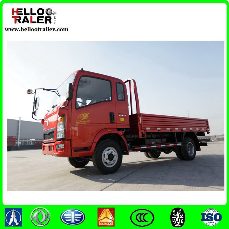 HOWO 3360mm light trucks 4x2 small light cargo truck sale