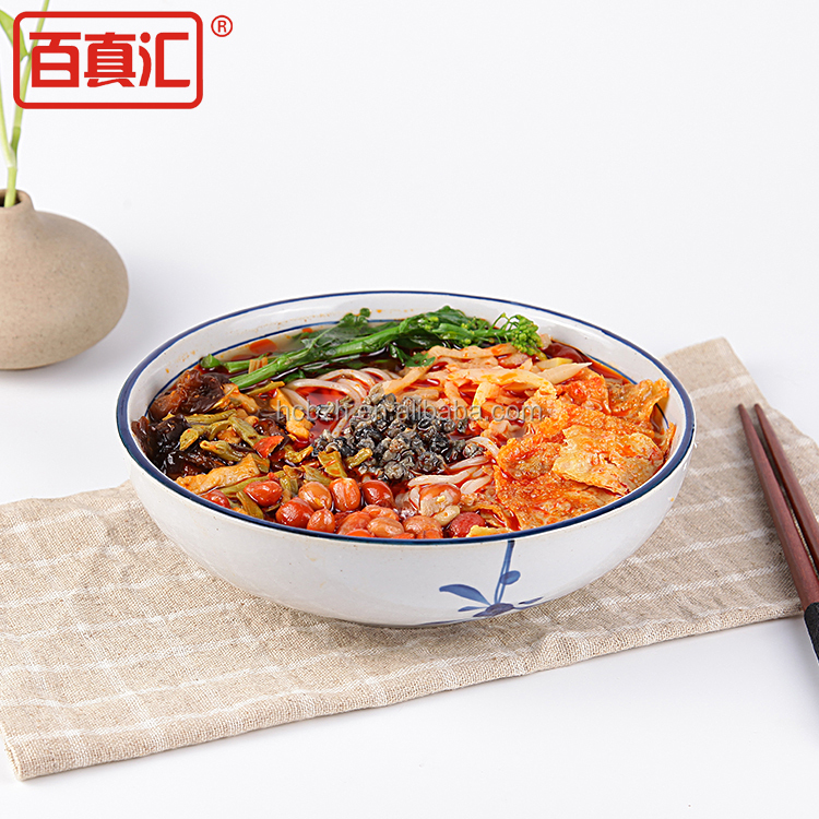 chinese instant food wholesale instant rice noodles with side dish