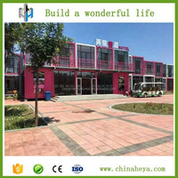 Low cost cheap quick assembled shipping container hotel with CE certificate for sale