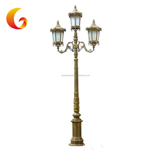 Street Decoration Outdoor Lighting Poles Decorative Cast Aluminum Street Lighting Pole
