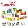 Unique design early learning wooden beads game string toy