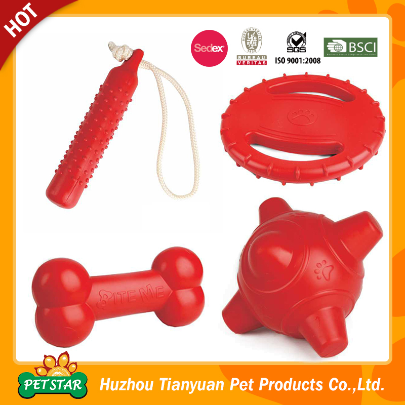 Durable Chew Soft Rubber Dog Toy