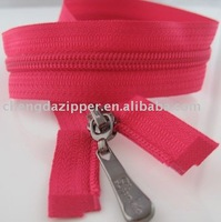Two way open end nylon zip