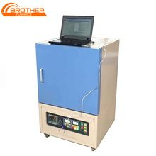 Updated Programable High temperature 1700C Electric Lab Bentch Top Muffle Furnace with high purity heating element