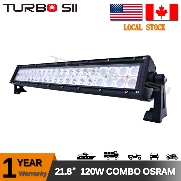 Local Delivery ! 21.8'' 120w led lights 12v super bright cheap led light bar hi / low beam motorcycle led light bar
