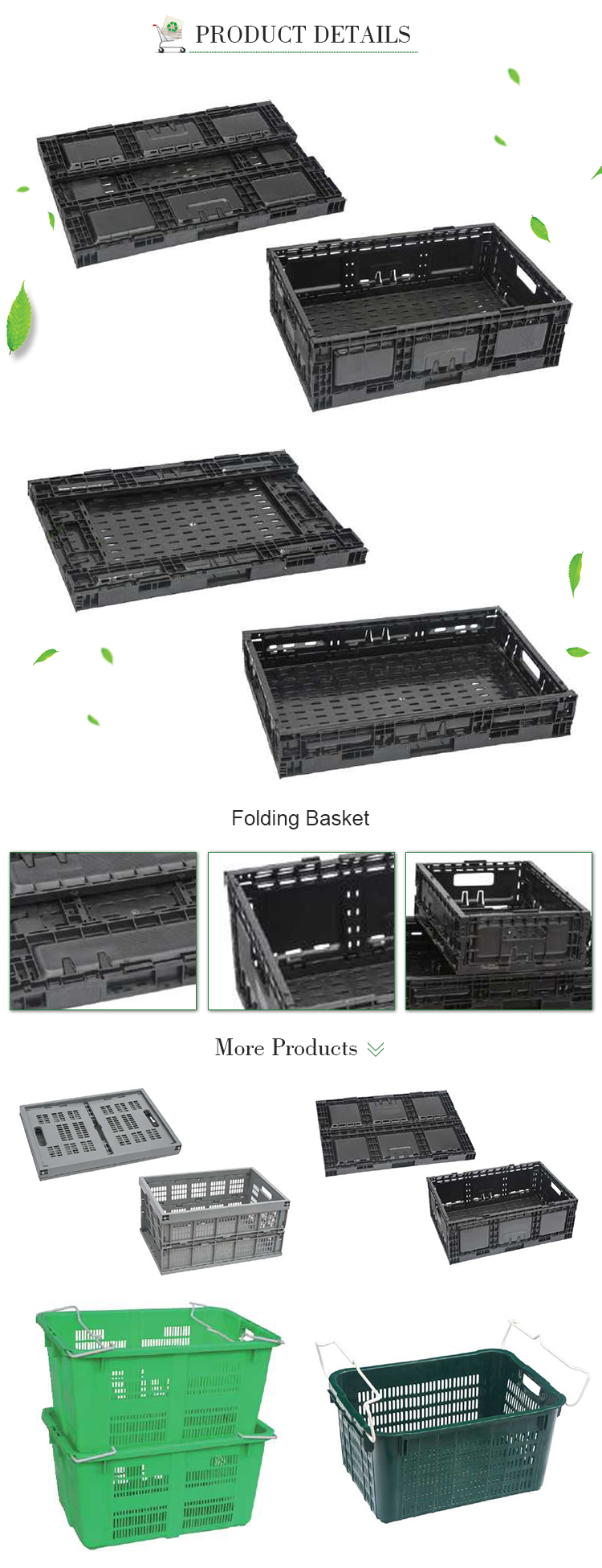 Cheap foldable storage cube plastic basket