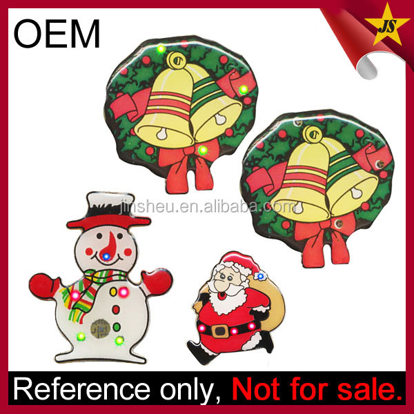 Novelty Santa LED Flashing Wholesale Christmas Pins