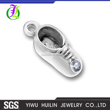 CN184497 Yiwu Huilin Jewelry Multicolor crystal casual children sport shoe charm pendant jewelry