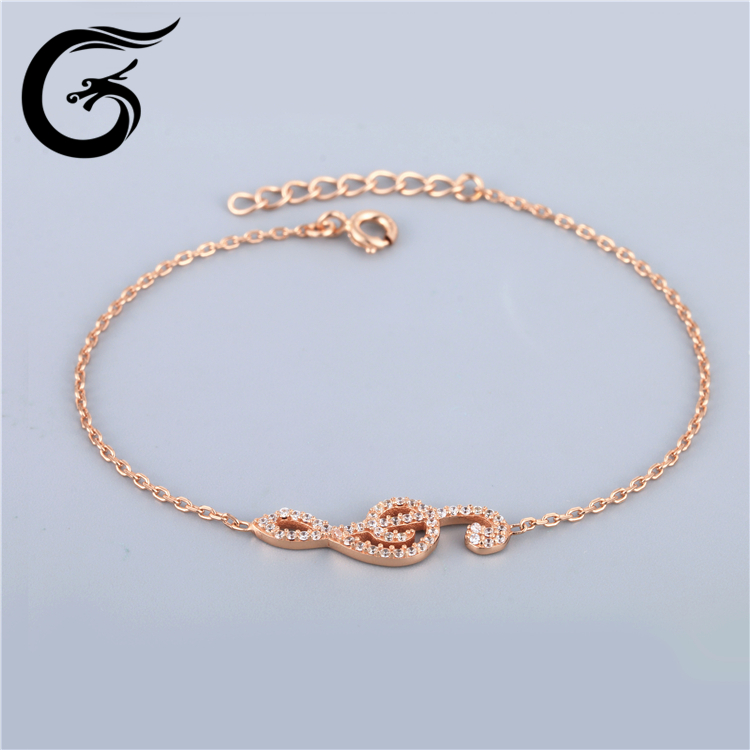 E GuoLong 925 sterling silver fashion jewellery rose gold jewelry
