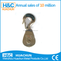 lifting pulley for rope;industrial pulley;nylon rope stainless steel swivel pulley